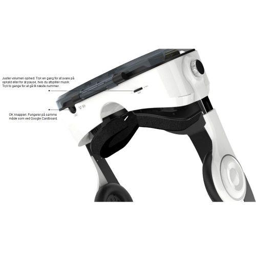 VR brille med controller