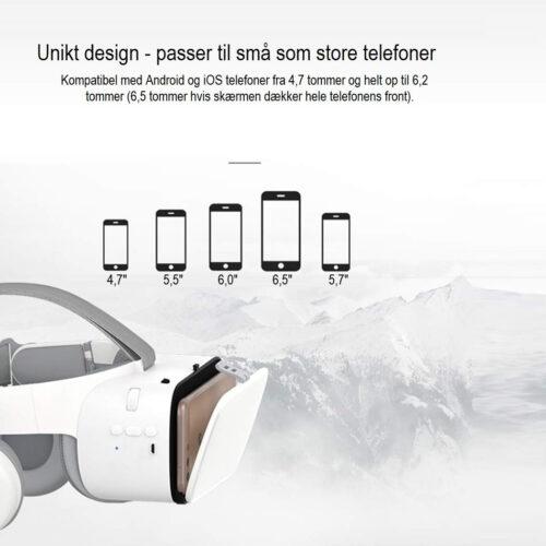 bobo vr z6 mobil vr brille til stor og lille telefon